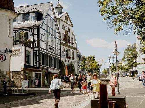 Fußgängerzone Brilon Stadt